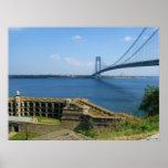 Verrazano bridge from St. Island to Brooklyn, NYC Poster