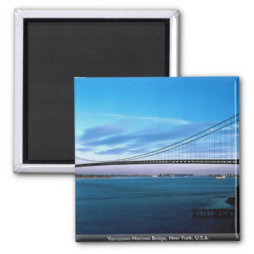 Verrazano-Narrows Bridge, New York, U.S.A. Fridge Magnet