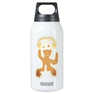 verrückte Kreatur als DJ in braun Insulated Water Bottle