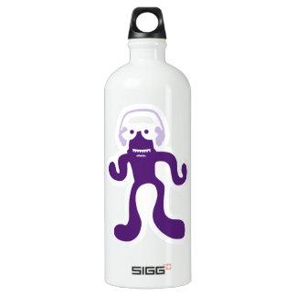 verrückte Kreatur als DJ in lila Aluminum Water Bottle
