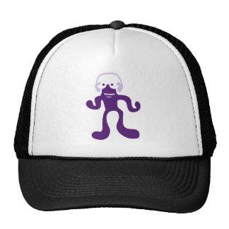 verrückte Kreatur als DJ in lila Trucker Hat