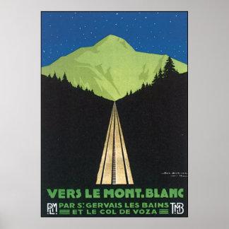 Vers Le Mont. Blanc Posters