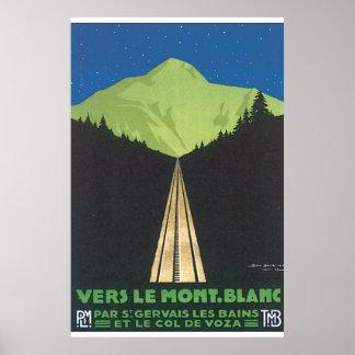 Vers Le Mont. Poster del viaje del vintage de