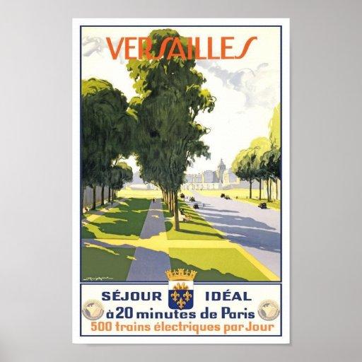 Versailles France Vintage Travel Poster
