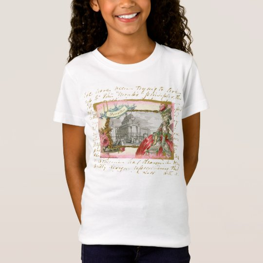 Versailles Marie Antoinette Collage Girls T-shirt