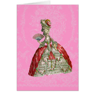 Versailles Marie Antoinette Stationery Card