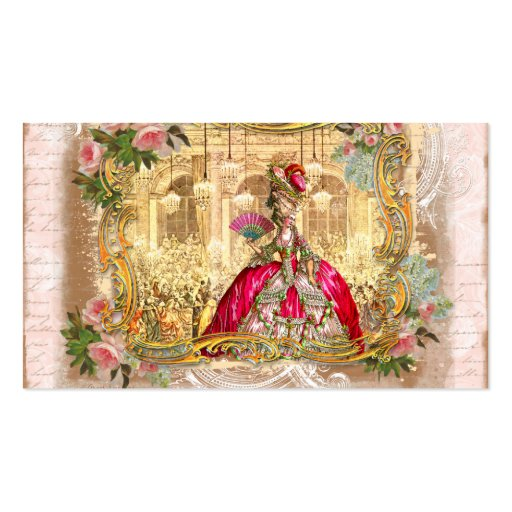 versailles marie golden framing roses pink second Double-Sided standard business cards (Pack of 100)