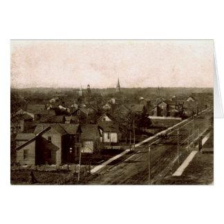 Versailles Ohio Birdseye View Greeting Card