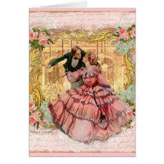 Versailles Romantic Dance Greeting Card