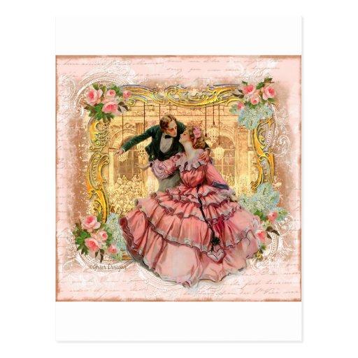 Versailles Romantic Dance Postcard