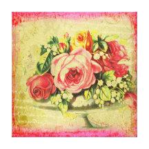 Versailles Roses Canvas Art Gallery Wrap Canvas