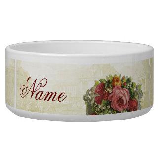 Versailles Roses Custom Pet Bowl