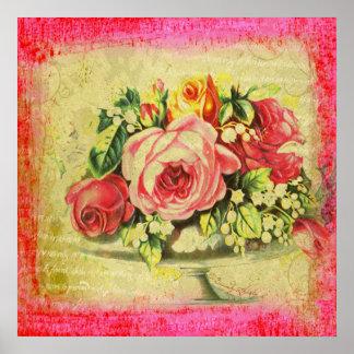 Versailles Roses Large Poster Print