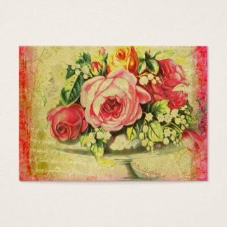 Versailles Roses Pastiche Business Cards