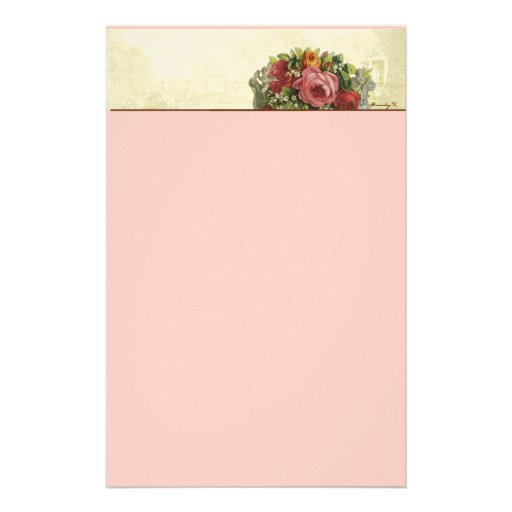 Versailles Roses Pastiche Stationery I