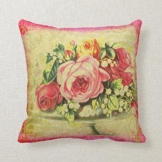 Versailles Roses Throw Pillow