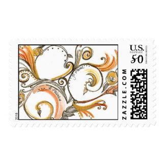 Versailles Swirl (Orange/Gold) Postage