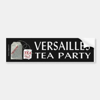 VERSAILLES TEA PARTY CAR BUMPER STICKER