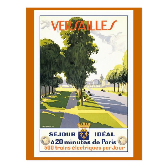 Versailles Vintage French Travel Poster Postcard