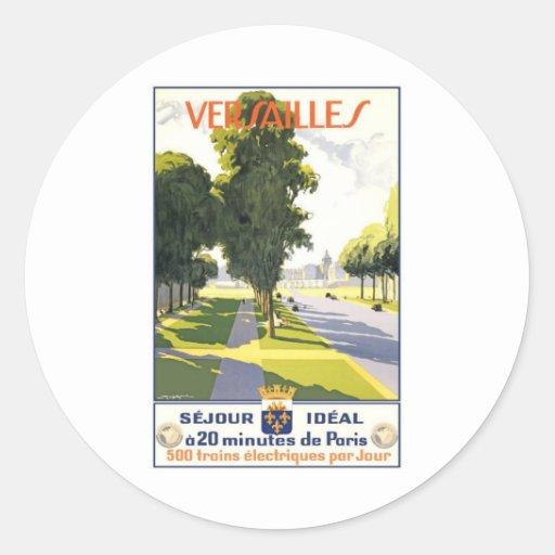 Versalles Francia Etiquetas Redondas