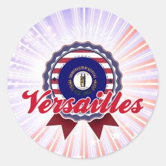 Versalles, KY Etiquetas Redondas