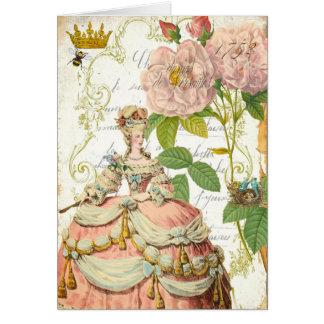 Versalles Roses de la Marie Antonieta Tarjeta