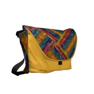Versatile multicolor saffron color messenger bag