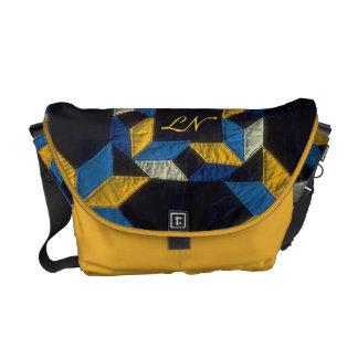 Versatile multicolor saffron personalize courier bag