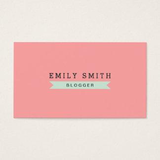 Versatile Social Media Pastel Pink and Mint Blue Business Card