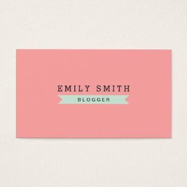 Professional Business Versatile Social Media Pastel Pink and Mint Blue Business Card