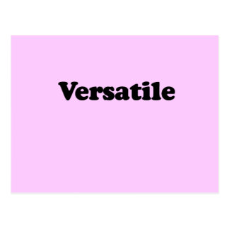 VERSATILE T-SHIRT POSTCARD