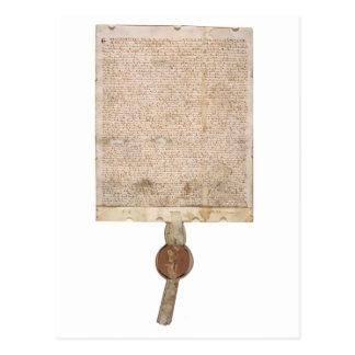 Versión 1297 de la Carta Magna de la postal con el