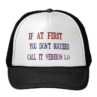 Version 1.0 hats