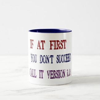 Version 1.0 Two-Tone coffee mug