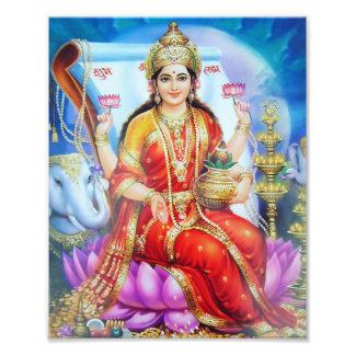 """Versión 1 de la impresión de Lakshmi (8"""" x 10"""") - Impresión Fotográfica"""