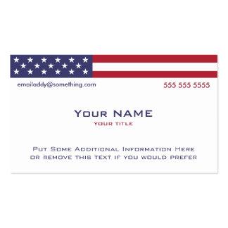 Versión 2 de bandera americana tarjetas de visita