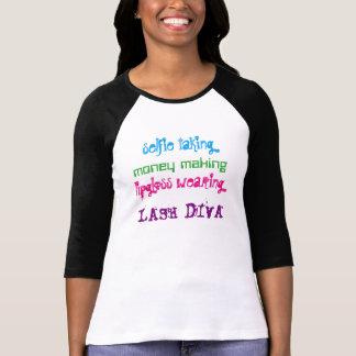 Versión 2 de la diva del latigazo del rimel camiseta
