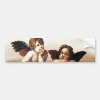 Versión 2 de la querube de Raphael Sistine Madonna Pegatina De Parachoque
