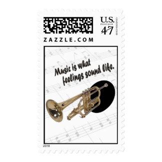 Versión #2 de la trompeta - como qué sensaciones timbre postal