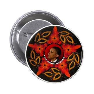 Versión 2 del botón de camarada Obama Pin Redondo De 2 Pulgadas