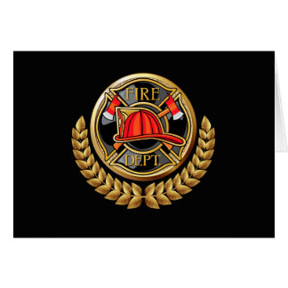Version 2 Fire Department Thank You or Blank Note Card