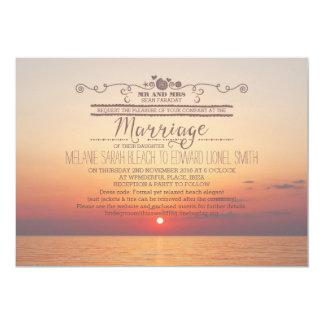 Version 2 Sunset Beach Destination Wedding Card