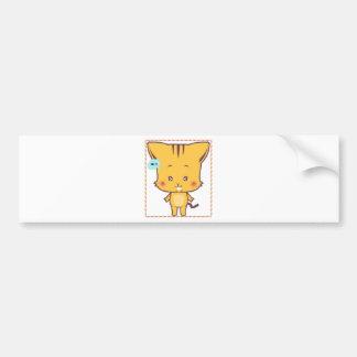 Versión 3 de los dibujos animados de s del gato li pegatina para auto