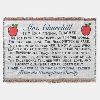 Version 3 EXCEPTIONAL Teacher Thank You Throw