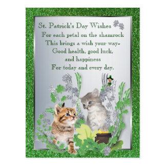 Versión adorable 2 de la felicidad de la suerte de tarjeta postal