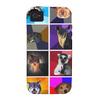 Versión animal 1 del caso del iPhone 4 del consejo iPhone 4/4S Fundas