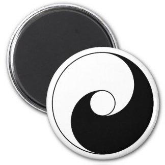 Versión antigua de Taijitu por Lai Zhi-De Yin Yang Imanes Para Frigoríficos