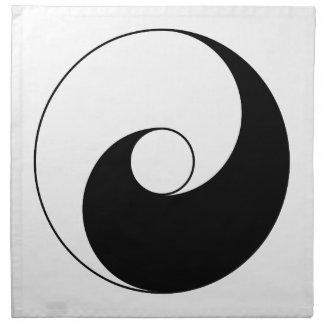 Versión antigua de Taijitu por Lai Zhi-De Yin Yang Servilletas