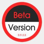 Versión beta pegatinas