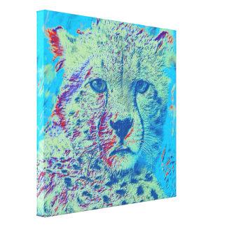 Versión colorida del guepardo impresión en lienzo estirada